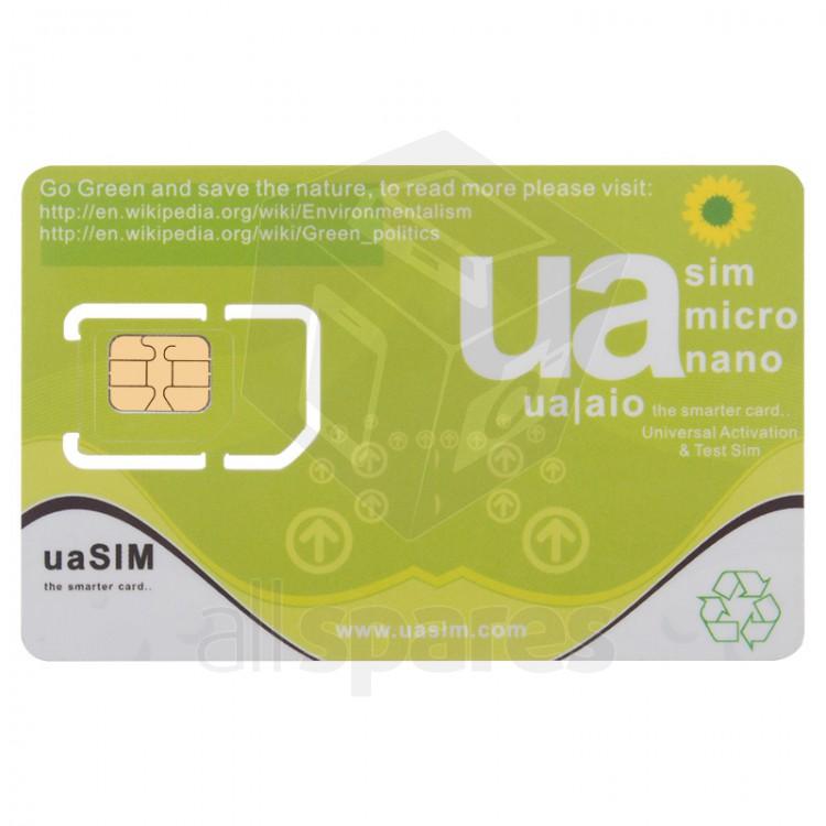 ua SIM - Universal Activation & Test SIM iPhone 3G / 3GS / 4 / 4S / 5 / 5S  / 5C Compatible